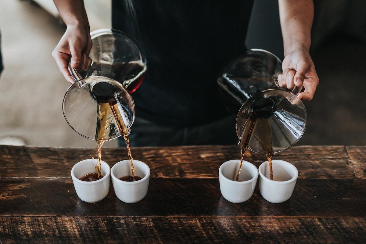 pour over kaffe teknik